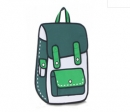 "Комикс 3D сумка-рюкзак ""BackPack"" GREEN"