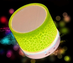 Мини Bluetooth LED колонка YELLOW
